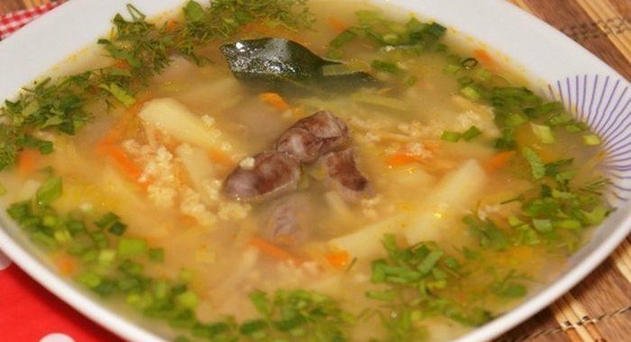 Суп с потрошками рецепт с фото