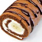 Бисквитный банановый рулет рецепт приготовления