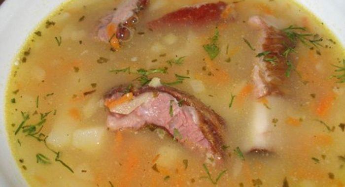 Гороховый суп с копченостями ребрышками – пошаговый рецепт