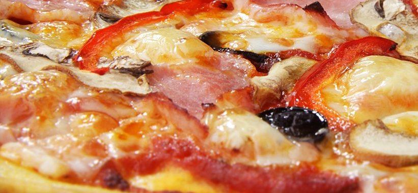 Пицца с ветчиной и грибами – пошаговый рецепт