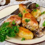 Курица с грибами в духовке – пошаговый рецепт