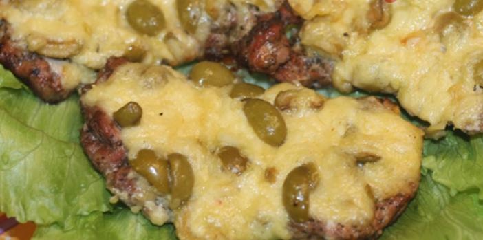 Отбивные с сыром и оливками в духовке – пошаговый рецепт с фото