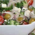 Классический греческий салат – пошаговый рецепт с фото