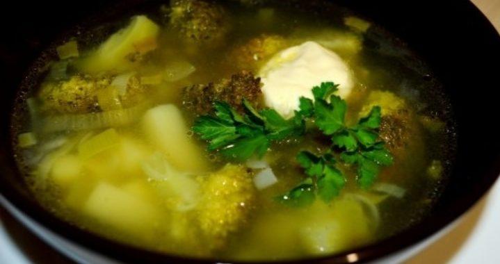 Суп из брокколи с луком-пореем – пошаговый рецепт с фото