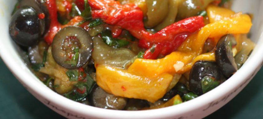 Салат из запеченного перца – пошаговый рецепт с фото