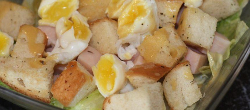 Зеленый салат с крутонами – пошаговый рецепт с фото