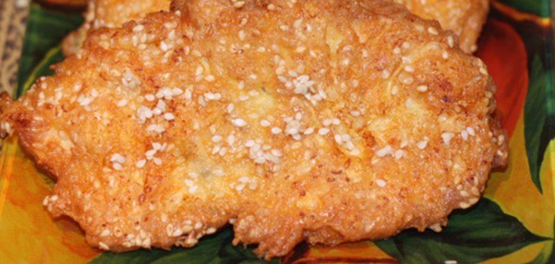 Куриное филе в сыре и кунжуте – пошаговый рецепт с фото