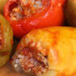 Фаршированный перец с мясом и рисом – пошаговый рецепт с фото