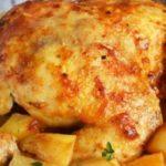 Курица с картошкой и грибами в духовке – пошаговый рецепт