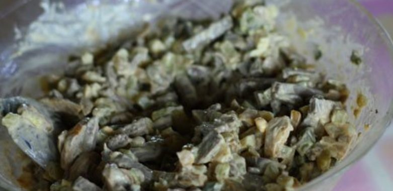 Салат из говяжьей печени – пошаговый рецепт с фото