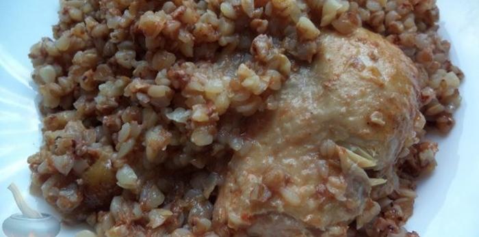 Тушеная курица с гречкой – пошаговый рецепт