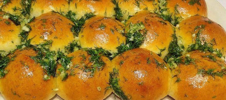 Пампушки с чесночным соусом – пошаговый рецепт