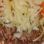 Салат из куриной печени с морковью – пошаговый рецепт