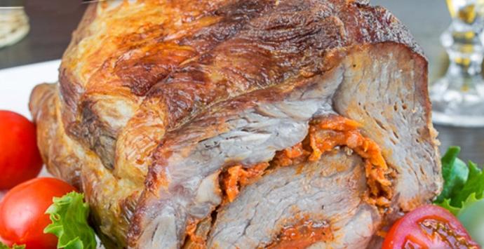 Рулет из свинины с морковью – пошаговый рецепт с фото